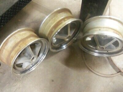 Vintage Chevy Kelsey Hayes Rims Set of 3 KH 70612 - Used