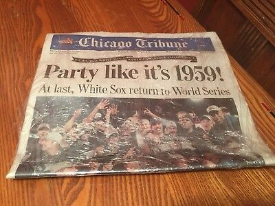 2005 Chicago WHITE SOX AMERICAN LEAGUE CHAMPIONS Chicago Tribune October 17 2005 Chicago Tribune White Sox