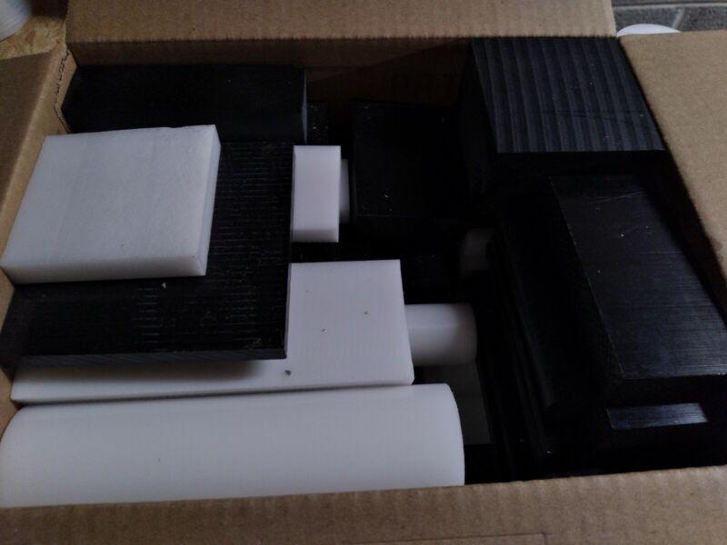 DELRIN/ACETAL ASSORTED BOX 19 - 20 LBS OF PLASTIC (MEDIUM FLAT RATE BOX )