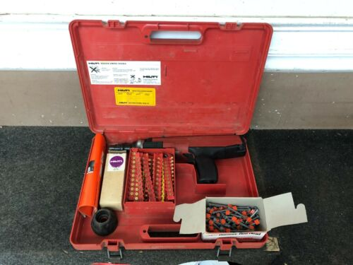 Hilti DX36M Powder Actuated Nail Gun Piston W/Case & Extras