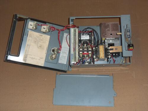 SQUARE D MODEL 4 SIZE 1 MOTOR STARTER 3 AMP BREAKER MCC MCCB BUCKET HOA LIGHT