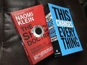 Naomi Klein books - Shock Doctrine & This Changes Everything