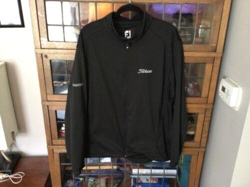 FootJoy DryJoys/Titleist Black Full Zip Waterproof Golf Jacket SZ L - Cool