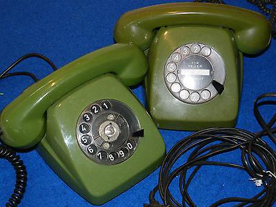 2 ANCIEN vintage TELEPHONE old phone ALT TELEFON fetap 611-2 SIEMENS Bundespost