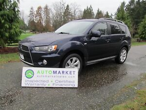 2013 Mitsubishi Outlander 4WD, Leather, Roof, Insp, Warr