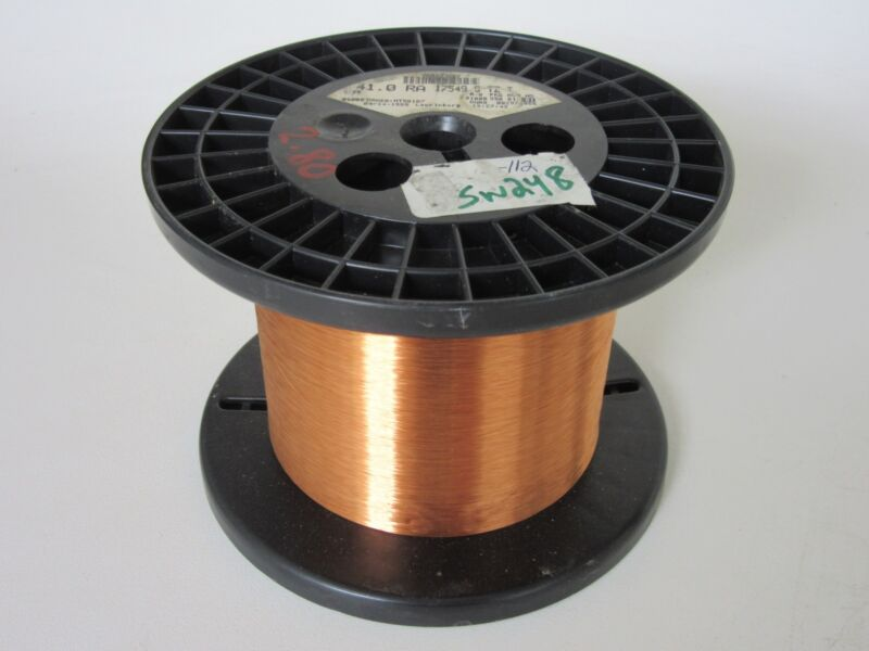 41 AWG   2.80 lbs.  Phelps  Enamel Coated Copper Magnet Wire