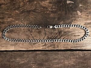 """20"""" STERLING SILVER HEAVY CURB CHAIN"""