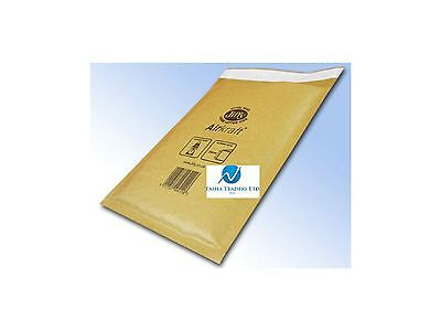 5 JL000 Gold Brown 120mm x160mm Bubble Padded JIFFY AIRKRAFT Postal Bag Envelope