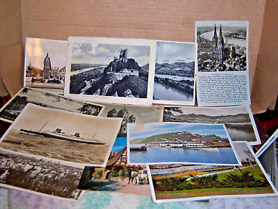 1935-37 post card lot sent and unsent from Germany and other European sites.  Li