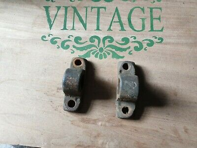 Old cast iron industrial brackets