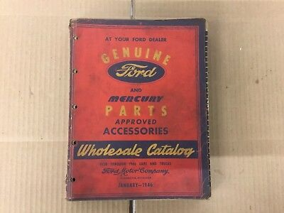 Genuine Ford and Mercury 1938-1946 Parts Accessories Catalog