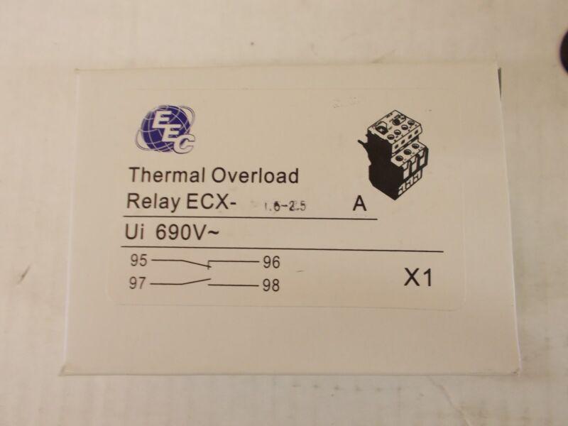 EEC  ECX1.6-2.5A OVERLOAD RELAY   AEG