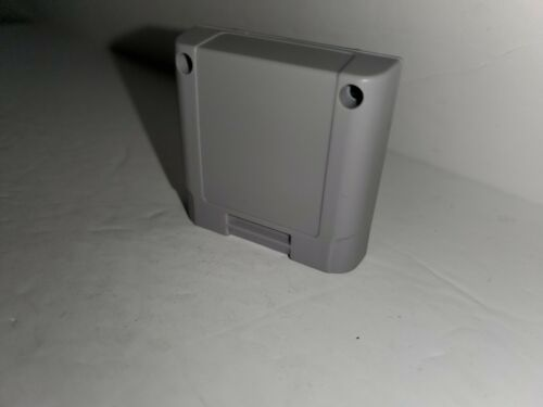 NEW Gray MEMORY CARD  for NINTENDO 64 N64 WORKS PERFECTLY No Label  E53