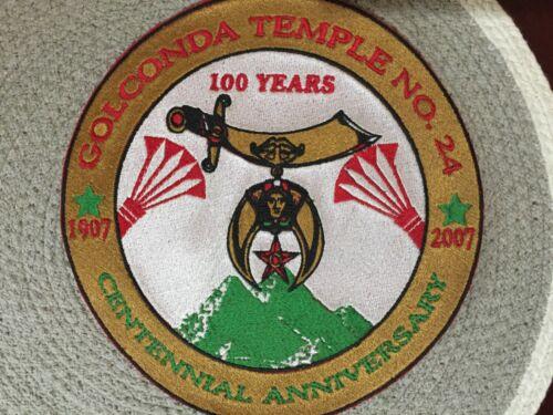 Shriners 100 Year Shriners Mason Patch Large Newark New Jersey Temple Golconda