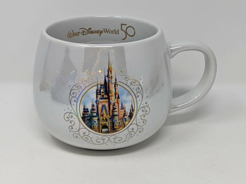 WDW 50th Anniversary Cinderella Castle Walt Disney World Ceramic Coffee Mug