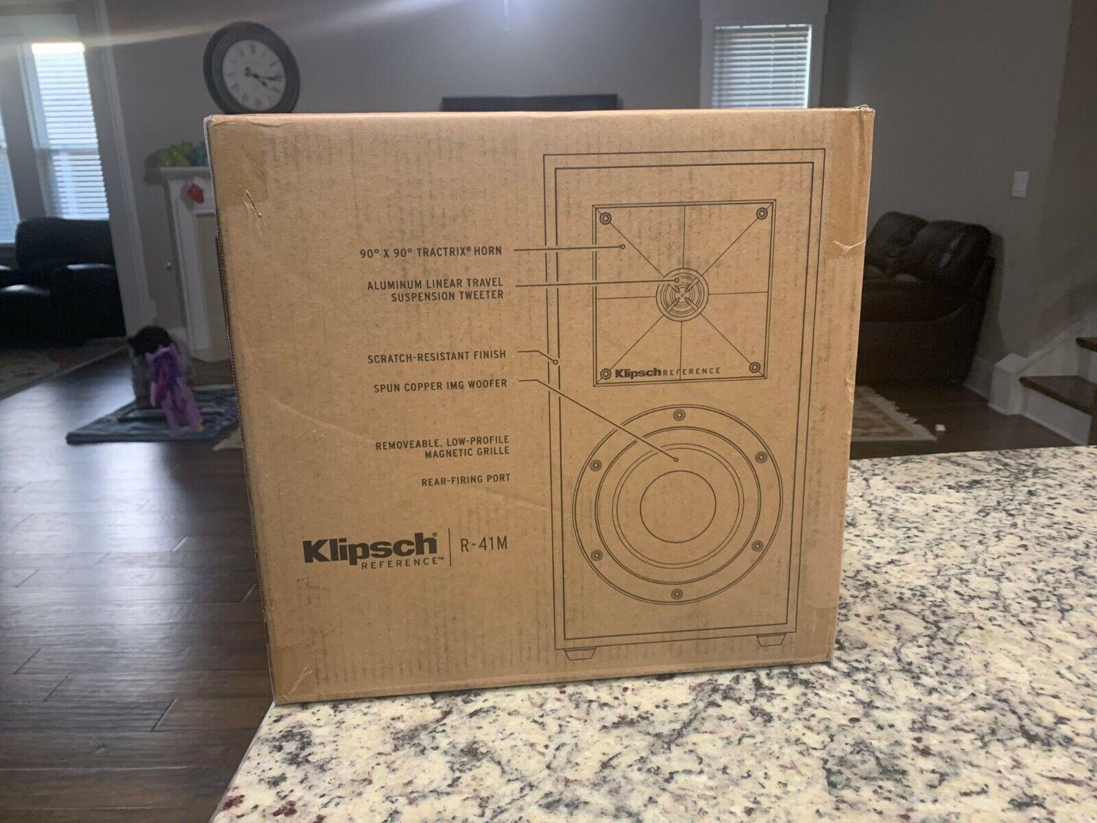 Klipsch R-41M 2-Way Bookshelf Speakers  - BLACK