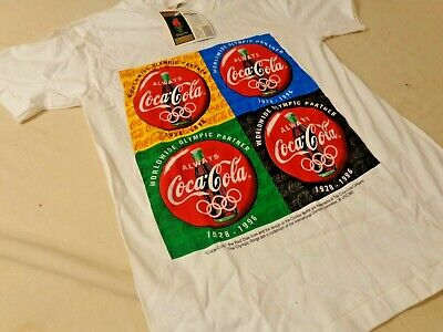 Vintage 1996 Atlanta Summer Olympics Coca-Cola T-Shirt - S (34-36) NWT