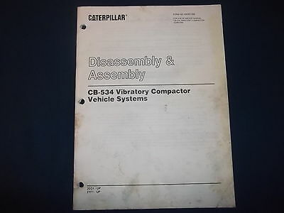 Cat Caterpillar Cb-534 Compactor Machine Systems Disassembly Manual Kenr1288
