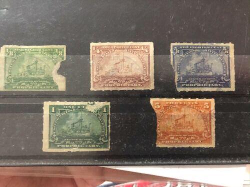 Rare Vintage Coca Cola Coke Stamp internal revenue tax set advertising