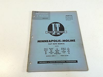 1956 Implement Tractor Flat Rate Manual Moline Avery Gtb Diesel Gb Ut Ub Za