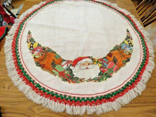 "Vintage Christmas Santa Tree Skirt Jim Timmons 40"" Rennoc Toys A9000"