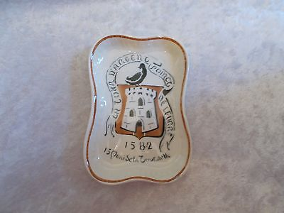 Vintage HBCM LaTour D'Argent Poinct Ne Leurre 1582 Ashtray/Tiptray