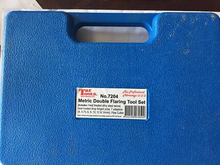 T/&E Tools Metric Double Flare Adaptor Set 7204-S NEW