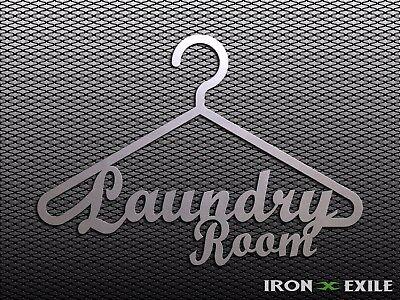 LAUNDRY -- Metal Wall Art Decor Room Word Quote Hanger Plasma Cutout USA Made