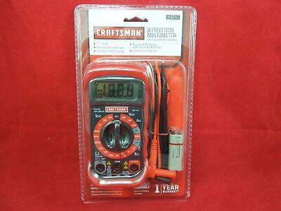 Craftsman Digital Multimeter Ac Dc Tester Volt Ohm Meter 8 Function 34-82141