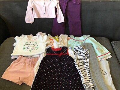 Baby Girl Clothes 9 - 12 months Mixed Bundle 20 items