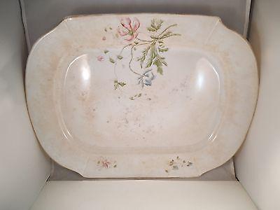 Vintage Tscp Co Stone China Large Turkey Serving Platter Pink Flowers