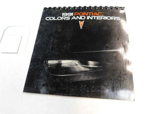 1991 PONTIAC COLOR AND INTERIOR  SALES BROCHURE  ALL MODELS  FIREBIRD