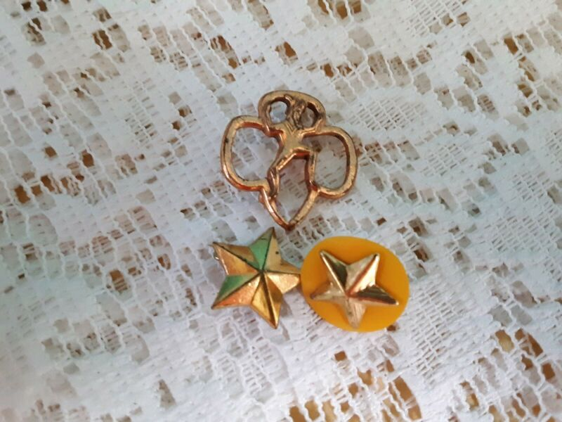 VTG Girl Scout Brownie Scout Pins & Membership Pins