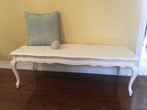 White French Provincial Bench or Coffee Table