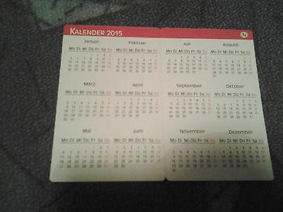 @NEU@ Kunstkalender 2015 Kalender Sammler Taschenkalender für Geldbörse  wow (- Kalender 2015)
