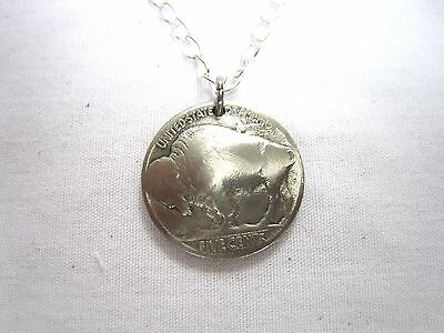 Antique Buffalo/Indian Nickel coin necklace-nicely domed