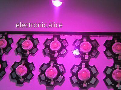 10pc 3w Full Spectrum 400nm-840nm Led Grow Lights F Hydroponics On 20mm Star Pcb