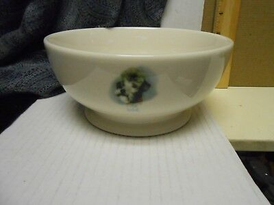 "RARE  Fishs Eddy  7"" Soup Cereal Dog  BOWL  B@#CH"