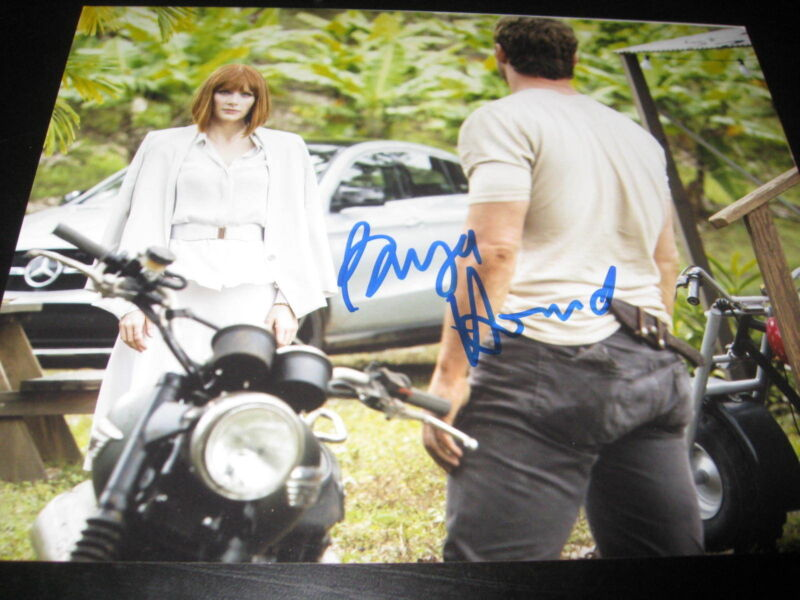BRYCE DALLAS HOWARD SIGNED AUTOGRAPH 8x10 JURASSIC WORLD ACTION SHOT RARE COA E