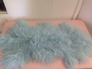 Sheepskin rug blue large approx 50 inches long super soft