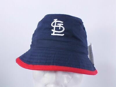 ST. LOUIS CARDINALS BUCKET HAT NAVY MLB YOUTH NWT By DREW PEARSON