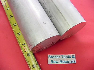 2 Pieces 2-12 Aluminum Round Rod 8 Long 6061 T6 Solid 2.50 Diameter Bar Stock