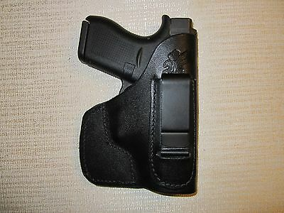 FITS GLOCK 42, 43, Ruger lc9,Kahr pm9 and more,IWB & POCKET holster, right hand, used for sale  Shipping to Canada