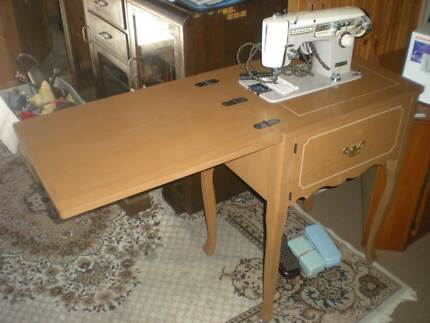 Sewing Maching Cabinet With Machine
