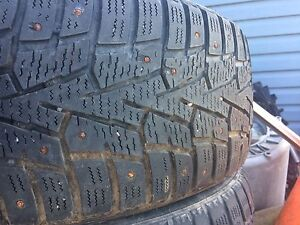 4-215/55r17 studded winter tires 200obo