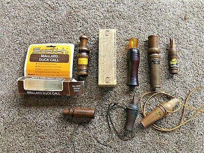 Vintage Duck Hunting Game Call 7 pc.Lot Duck Calls & crow calls Mallard etc. NR