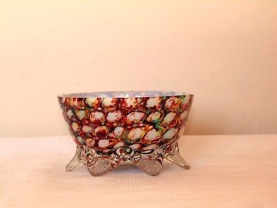 Stevens and williams Decrative Art Glass Footed Dish