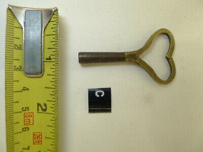 (Ref#C) Genuine Antique Black Forest Cuckoo Bracket Clock key Brass and Steel