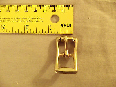 Solid Brass Middle Bar Roller Buckles 1/2