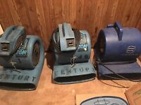 Dehumidifier...and 3 turbo dryers